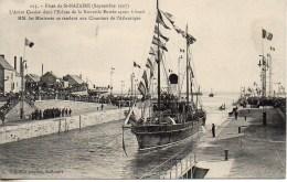 """44 St-NAZAIRE Fêtes De Septembre 1909 : L'Aviso """"Caudan"""" Dans L'écluse De La Nouvelle Entrée - Saint Nazaire"""
