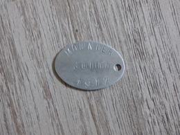 Plaque D'identité De MOUNIER Julien, 99ème RI Fait Prisonnier Le 10 Juin 1917 à Cerny - 1914-18