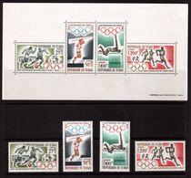 Chad-1964,(Mi.120-123,Bl.1),  Football, Soccer, Fussball,calcio,MNH - Soccer