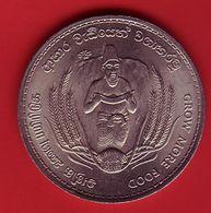 - CEYLAN - 2 Roupies - 1968 - - Monnaies