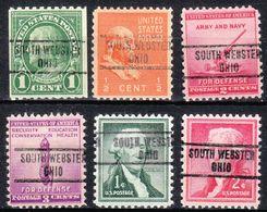 USA Precancel Vorausentwertung Preo, Locals Ohio, South Webster 734, 6 Diff. - Vereinigte Staaten