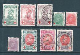 Belgique Série De 1912/13 Complète N°126 A 134 NSG Et Oblitérés - 1912 Pellens