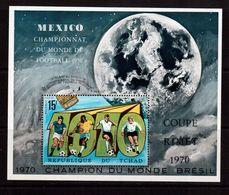 Chad-1970,(Mi.Bl.9) ,Football, Soccer, Fussball,calcio,MNH - 1970 – Mexico