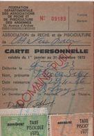 Carte D'Association/Fédé. Départ. Des Assoc. De Pêche Et De Pisciculture Des Ardennes/CHARLEVILLE-MEZIERES/1973   AEC125 - Autres