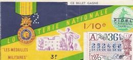 LOTERIE NATIONALE...LES MEDAILLES MILITAIRES..1970 - Biglietti Della Lotteria