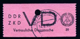 A5203) DDR Zentraler Kurierdienst Mi.D2 Gestempelt Mi. Ca. 400 € - DDR