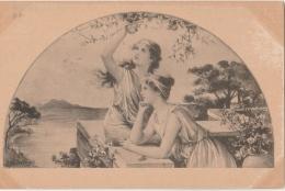 VIENNOISE (type) - Deux Jeunes Filles - Ill. Mac Kenzie - éd. Anglaise - Terrasse - Fruits - Cueillette - Donne