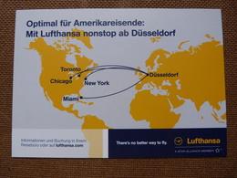 AIRLINE ISSUE / CARTE COMPAGNIE     LUFTHANSA - 1946-....: Moderne