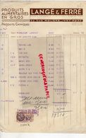 94- IVRY PORT- FACTURE LANGE & FERRE- PRODUITS ALIMENTAIRES EN GROS-SAF-62 RUE MOLIERE-1933 - Alimentaire