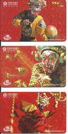 3 Télécartes Chine China Clown Tradition (D 308) - Chine