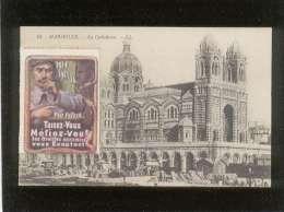 Vignette 1914 1915 - 16 Pro Patria  Taisez-vous Mefiez-vous  ....cachet Militaire Des Chemins De Fer Gare De Marseille - Marcophilie (Lettres)