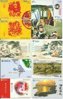 10 Télécartes Chine China Paysage (D 312) - Phonecards