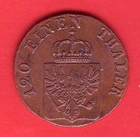 - ALLEMAGNE - Royaume De Prusse. 3 Pfenninge 1844 D - - Other