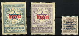 2172- Marruecos Telégrafos Nº 31/34, 41 - Spanish Morocco