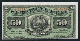 BOLIVIA BOLIVIE    P91   50 CENTAVOS   1902   UNC. - Bolivia