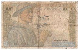 Billet > France >1944 > Valeur 10 - 1871-1952 Anciens Francs Circulés Au XXème