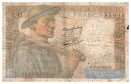 Billet > France >1943 > Valeur 10 - 1871-1952 Anciens Francs Circulés Au XXème