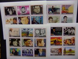 ST. VINCENT And The GRENADINES 1996 JOHN F. KENNEDY JFK 36 SELLOS 4 BLOQUES De 9 SELLOS - St.Vincent Y Las Granadinas