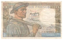 Billet > France >1949 > Valeur 10 - 1871-1952 Circulated During XXth