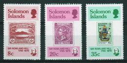British Solomon Islands 1979 Death Centenary Of Sir Rowland Mounted Mint Set Of Stamps. - Iles Salomon (...-1978)