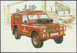 RAF Land Rover TACR.1 Airfield Crash Rescue - Golden Era Postcard - Camion, Tir