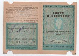 Carte D'Electeur/République Française/ Ministére De L'Intérieur/ Fontenay Sous Bois/ Tixier Serge/ 1976   ELEC14 - Otros