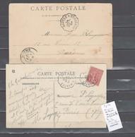 Lettres  Cachet  Convoyeur  Bordeaux à Nantes Et Retour   -  2 Piéces - Postmark Collection (Covers)