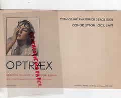 75- PARIS- BUVARD LABORATOIRES FAMEL-16 RUE DES ORTEAUX- OPTRAEX- CONGESTION OCCULAIRE- LUNETTES LUNETTERIE - Buvards, Protège-cahiers Illustrés