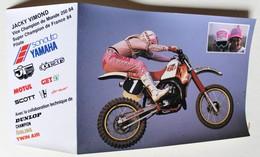 CPM Moto Jacky Vimond Champion Du Monde 1984 250cc Team Yamaha Motul Motocross - Moto