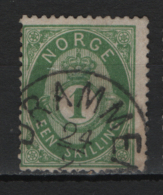Norvegia 1872 Unif.16 O/Used VF/F - Norvège