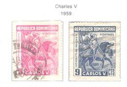 Rep.Dominicana PO 1959 Carlo V°  Scott.516+517 Used See Scans On Scott.Page - Dominican Republic