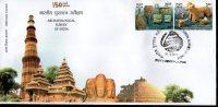 India 2011 Archaeological Survey Of India Art Handicraft Buddha Architecture 2v FDC Inde Indien - Archaeology