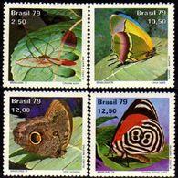 Brasil C 1098/101 Dia Do Selo Borboletas 1979 NNN - Brasilien