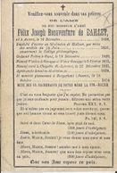 MA42/ °ANVERS 1806 + BORGERHOUT 1874 PATER FELIX DE BAILLET VICARIS TE GENAPPE... - Religion & Esotericism