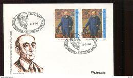 Belgie 1996 2627  Luxemburgse FDC  Van Rysselberghe Paintings Luxembourg Joint Issue - Herdenkingskaarten