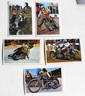 5 Stickers 1976 Moto TRIAL OSSA Ton Van Heugten Heikki Mikkola Album Motos Action Vanderhout - Motos