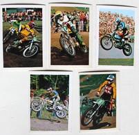 5 Stickers 1976 Moto TRIAL Jim Pommery Harry Events Hakan Carlquist Vic Allen Album Motos Action Vanderhout - Motos