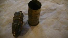 1914-1918 Artisanat Des Tranchées Briquet De Poilus Dans Douille Obus 37mm Francais - 1914-18