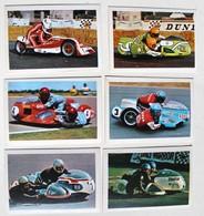 6 Stickers 1976 Moto Side-Car Yamaha Kawasaki BMW König Album Motos Action Vanderhout - Motos