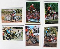 6 Stickers 1976 Moto TRIAL Brad Lackey Dario Mani Khoudiakov Ake Jonsson Terroitin Mikkola Album Motos Action Vanderhout - Motos
