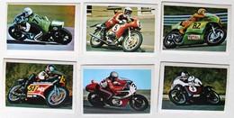 6 Stickers 1976 Moto Triumph BSA Harley Davidson Kawasaki BMW Godier Jefferies Rougerie Album Motos Action Vanderhout - Motos