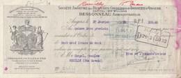 Lettre Change Mandat 27/1/1910 Bessonneau Filatures ANGERS Maine Et Loire à Chapel Rumilly Haute Savoie Cachet Fiscal - Lettres De Change