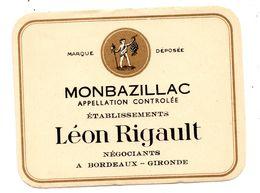 Etiquette Monbazillac  Rigault - Bordeaux