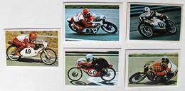 5 Stickers 1976 Moto Malanca Derbo Morbidelli Maico's Angel Nieto Buscherini Paolo Pileri Album Motos Action Vanderhout - Motos