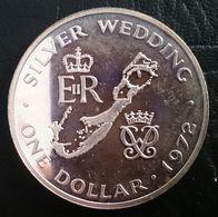 "BERMUDA 1 DOLLAR 1972 SILVER PROOF ""Silver Wedding Anniversary"" Free Shipping Via Registered Air Mail - Bermuda"