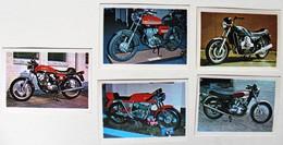 5 Stickers 1976 Moto Morini Corsaro Van Veen OCR 1000 Agusta 125 Sport Triumph Trident Album Motos Action Vanderhout - Motos