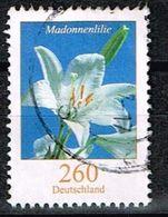 Bund 2016, Michel# 3207 R O Madonnenlilie Mit Nr. 85 (verwisch) - BRD