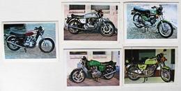 5 Stickers 1976 Moto Motobécane 125 Et 500 Cc Triumph Trident Laverda Album Motos Action Vanderhout - Motos