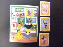 ST. VINCENT The GRENADINES 1994 65 Aniversario De Mickey Yvert 2145 + 2146 + 2147 + Bloc 270 ** MNH - Disney