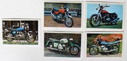 5 Stickers 1976 Moto Kawasaki Mach II Et SI Et ZI 900 IZH Jupiter Honda CB 550 Album Motos Action Vanderhout - Motos